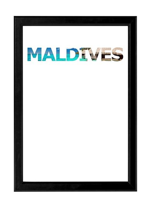 Decarthome Maldivler Anı Çerçevesi 21x30 cm Siyah